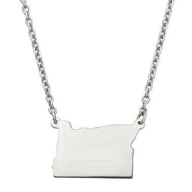 jcpenney.com | Personalized Sterling Silver Oregon Pendant Necklace