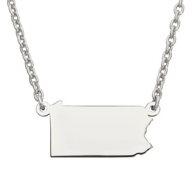 jcpenney.com | Personalized Sterling Silver Pennsylvania Pendant Necklace