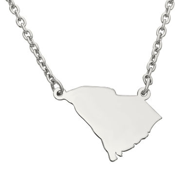 jcpenney.com | Personalized Sterling Silver South Carolina Pendant Necklace
