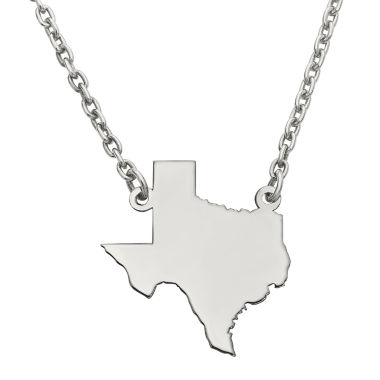 jcpenney.com | Personalized Sterling Silver Texas Pendant Necklace