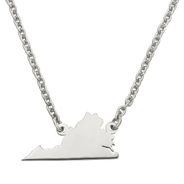 jcpenney.com | Personalized Sterling Silver Virginia Pendant Necklace
