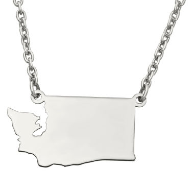 jcpenney.com | Personalized Sterling Silver Washington Pendant Necklace
