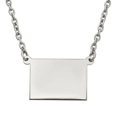 jcpenney.com | Personalized Sterling Silver Wyoming Pendant Necklace