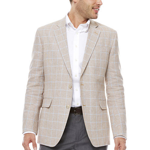 Stafford Linen Cotton Sand WP Sport Coat-Classic Fit