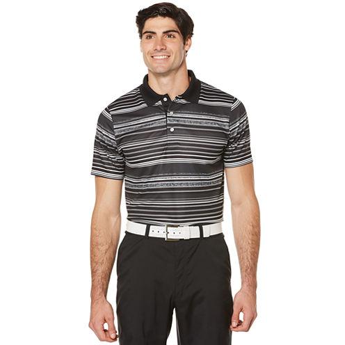 PGA Tour Short Sleeve Ombre Mesh Polo Shirt