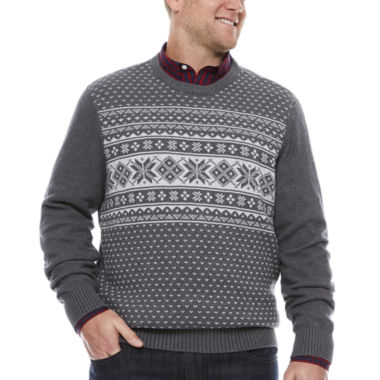 jcpenney.com | Dockers Long Sleeve Holiday Sweater- Big & Tall