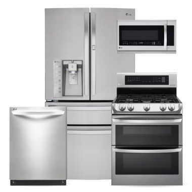 jcpenney.com | LG ENERGY STAR® Super Capacity French-Door  4-pc. Kitchen Package- Stainless Steel