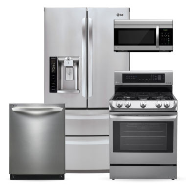 jcpenney.com | LG ENERGY STAR® Ultra Capacity French-Door 4-pc. Kitchen Package- Stainless Steel