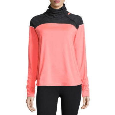 Xersion Long Sleeve Mock Neck T-Shirt-Womens