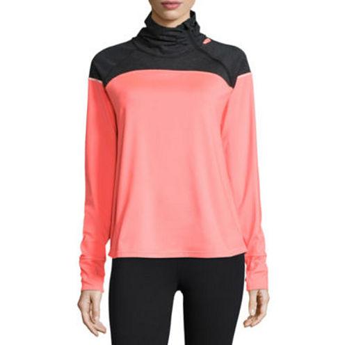 Xersion Long Sleeve Mock Neck T-Shirt-Womens