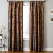 LaCrosse Faux-Silk Rod-Pocket Curtain Panel