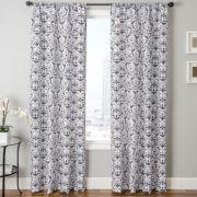 LaCrosse Faux-Silk Rod-Pocket Curtain Panel