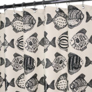 Park B. Smith Fish School Shower Curtain