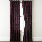 Park B. Smith Cabbage Rose Back-Tab Curtain Panel