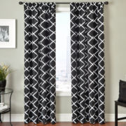 Trellis Rod-Pocket Curtain Panel