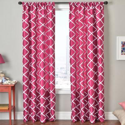 Trellis Rod Pocket Curtain Panel
