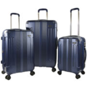 Travelers Club® Calypso 3-pc. Hardside Expandable Double-Spinner Upright Luggage Set