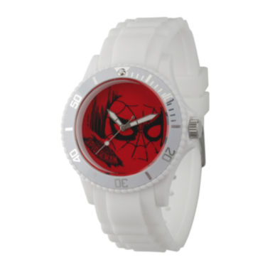 jcpenney.com | Marvel® Mens Spiderman White Rubber Strap Watch