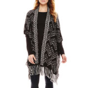 Manhattan Hat Company® Chevron-Print Vest with Fringe