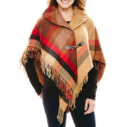 Manhattan Hat Company® Plaid Shawl Collar Cape