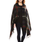 Manhattan Hat Company® Plaid Cape with Hood