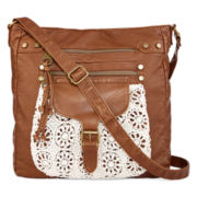 T-Shirt and Jeans™ Crossbody Bag with Crochet