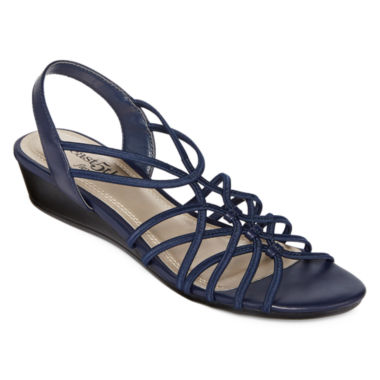 jcpenney.com | east 5th® Royal Strappy Wedge Sandals