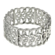 1928® Silver-Tone Woven Loop Stretch Bracelet