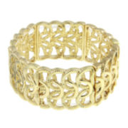 1928® Gold-Tone Woven Loop Stretch Bracelet