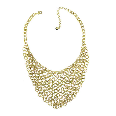 1928® Gold-Tone Chain Link Bib Necklace