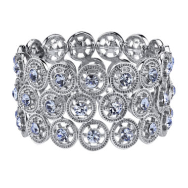 jcpenney.com | 1928® Silver-Tone and Blue Wide Stretch Bracelet