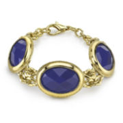 1928® Blue Stone Gold-Tone Bracelet