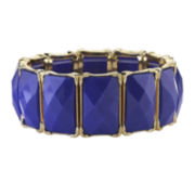 1928® Blue Stone Gold-Tone Stretch Bracelet
