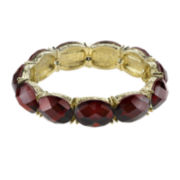 1928® Red Stone Gold-Tone Stretch Bracelet