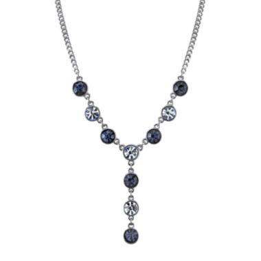 jcpenney.com | 1928® Light and Dark Blue Crystal Silver-Tone Y-Necklace