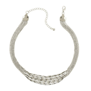 jcpenney.com | 1928® Silver-Tone Multi-Row Chain Necklace