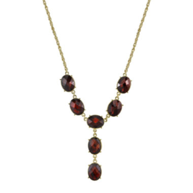 jcpenney.com | 1928® Red Stone Gold-Tone Y-Necklace