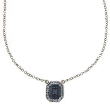 jcpenney.com | 1928® Blue Crystal Silver-Tone Pendant Necklace