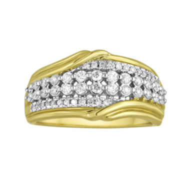 jcpenney.com | LIMITED QUANTITIES 1/2 CT. T.W. Diamond 10K Yellow Gold Band Ring