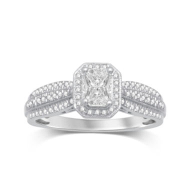 jcpenney.com | LIMITED QUANTITIES 1/2 CT. T.W. Diamond 10K White Gold Ring