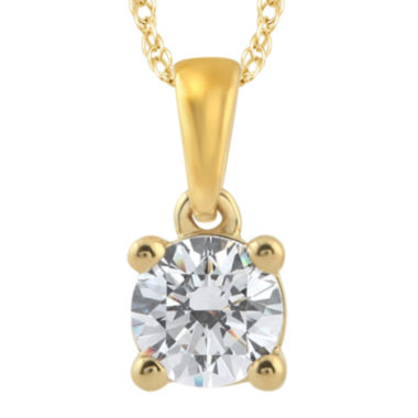 jcpenney.com | 1/2 CT. Diamond Solitaire 14K Yellow Gold Pendant Necklace