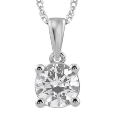 jcpenney.com | 3/4 CT. Diamond Solitaire 14K White Gold Pendant Necklace