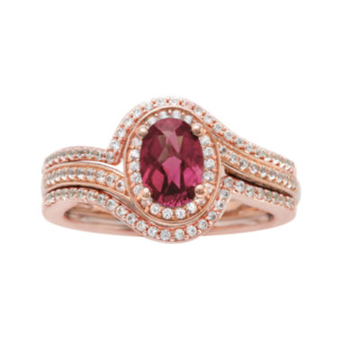 jcpenney.com | 10K Rose Gold Rhodolite and Diamond Ring