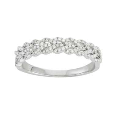 jcpenney.com | Botanical Bridal 1/3 CT. T.W. Diamond 14K White Gold Engagement Band Ring