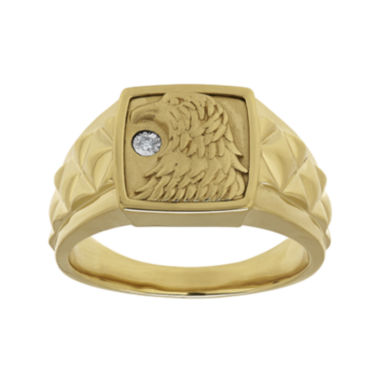 jcpenney.com | Mens Diamond-Accent 14K Gold Over Silver Eagle's Head Ring