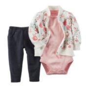 Carter's® 3-Piece Cardigan Set – Baby Girls newborn-24m