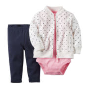 Carter's® 3-Piece Cardigan Set – Baby Girls newborn-24m