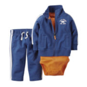 Carter's® 3-Piece Navy All-Star Pullover Set – Baby Boys newborn-24m