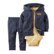 Carter's® 3-Piece Handsome Heather Hoodie Set – Baby Boys newborn-24m
