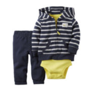 Carter's® 3-Piece Navy Stripe Hoodie Set - Baby Boys newborn-24m